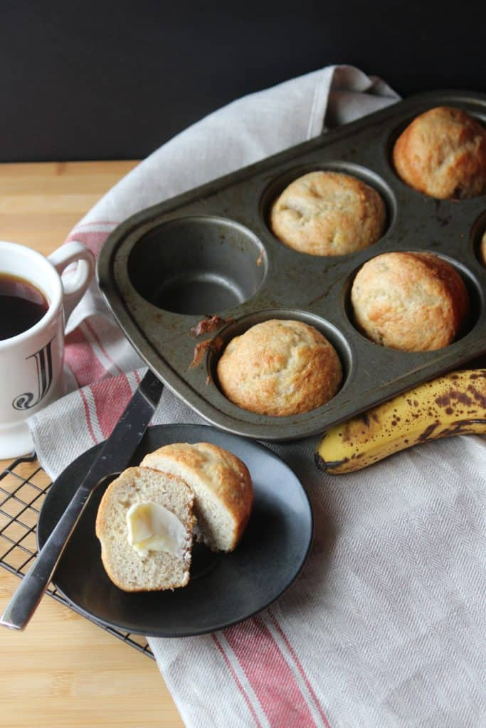 Easy 3-Ingredient Banana Bread Muffins
